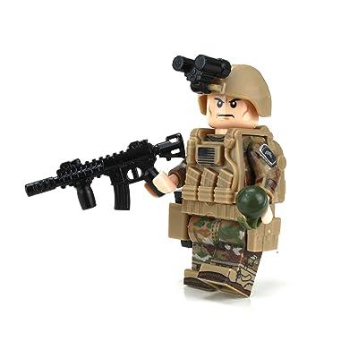 Battle Brick Army OCP 101st Airborne Custom Minifigure: Toys & Games