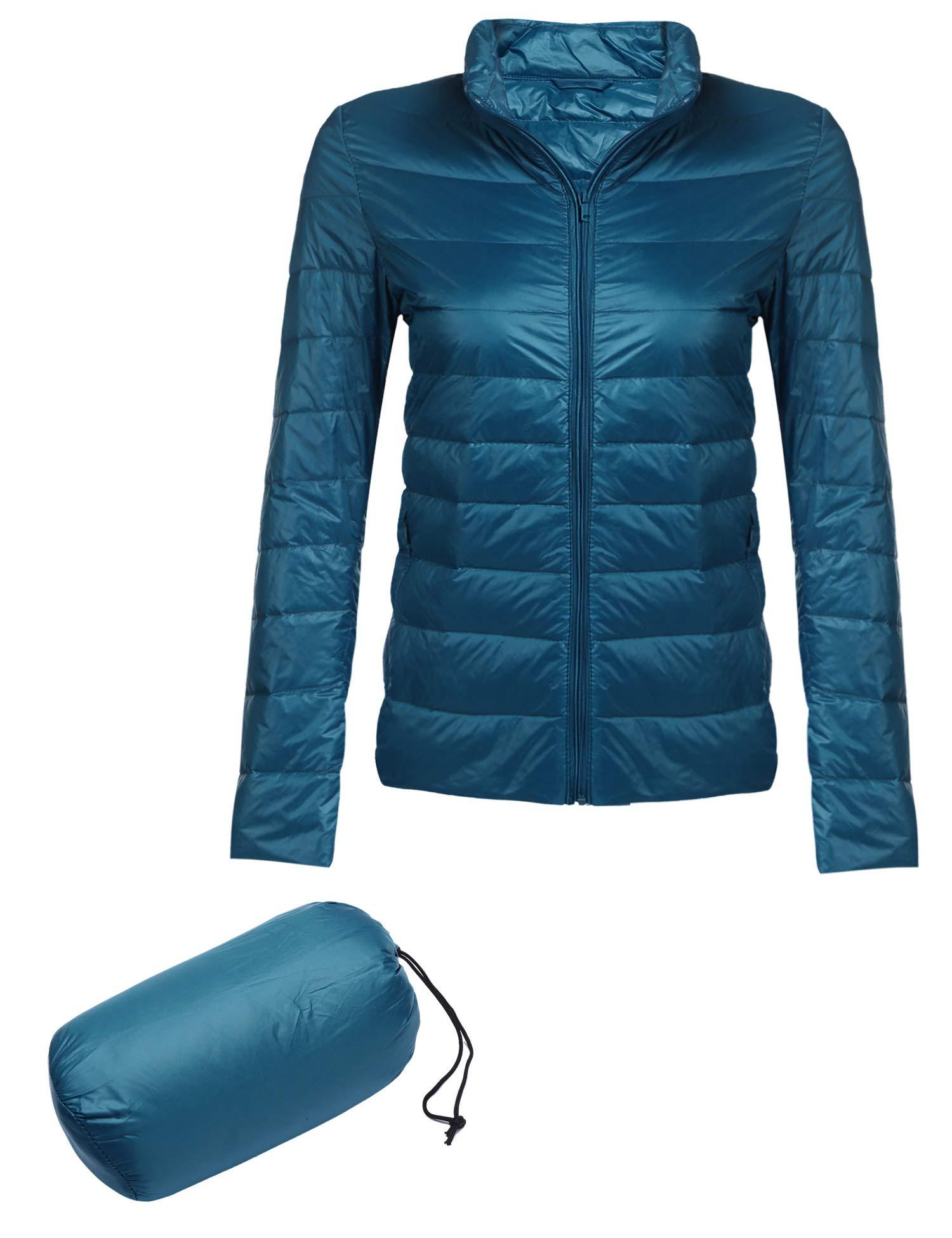 a69b4e1a9da Beyove Women s Lightweight Packable Down Puffer Coat Fall Winter Stylish  Jacket Blue L