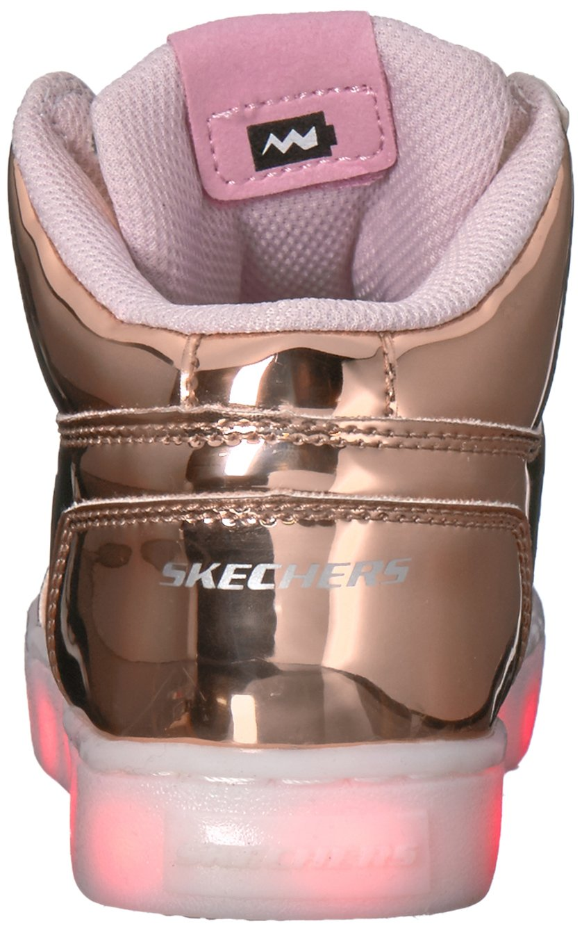 Skechers Kids Energy Lights-Dance-N-Dazzle Sneaker,Rose Gold,1 M US Little Kid by Skechers (Image #2)