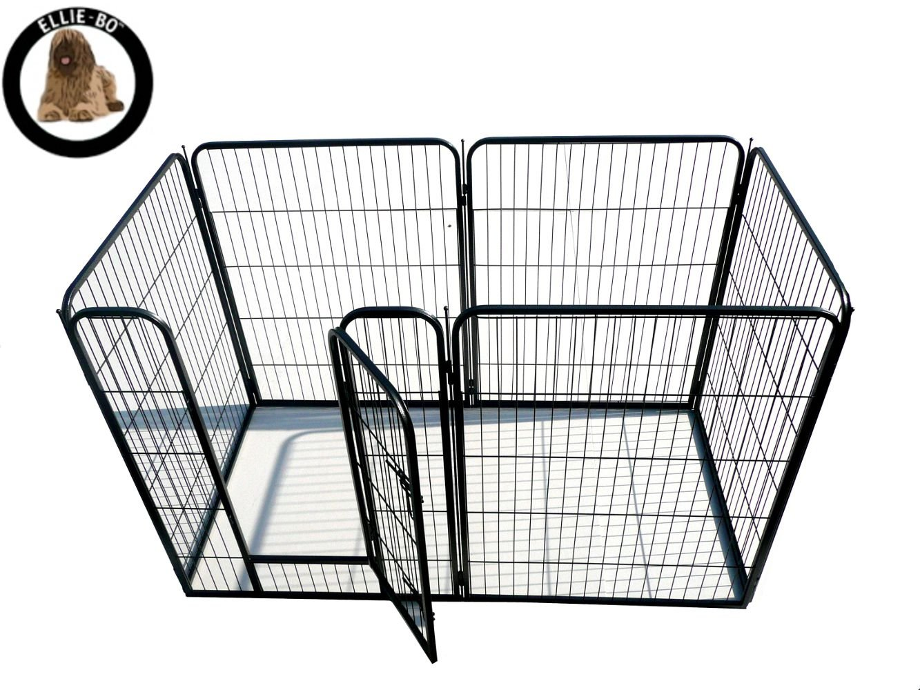 Ellie-Bo 6 Piece Heavy Duty Modular Puppy Exercise Play Whelping Pen 100cm Height