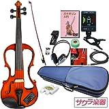 Hallstatt ハルシュタット エレキヴァイオリン EV-30/ブラウン 4/4サイズバイオリン サクラ楽器オリジナル 初心者入門チューナーセット