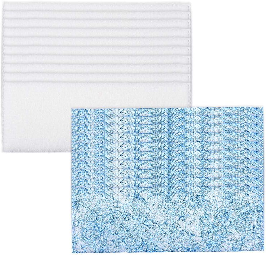 KeeTidy Disposable 10 Wet + 10 Dry Sweeping Mop Pads for iRobot Braava Jet 240 241