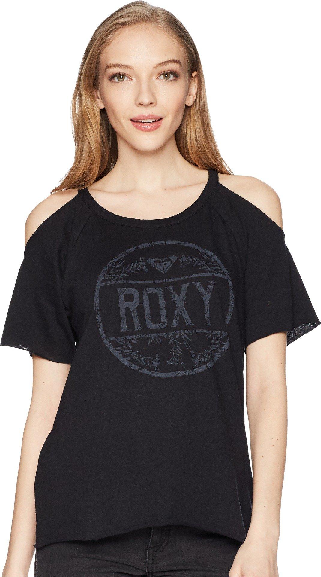 Roxy Junior's Luv Bug Shoulder Tee, Anthracite, XS