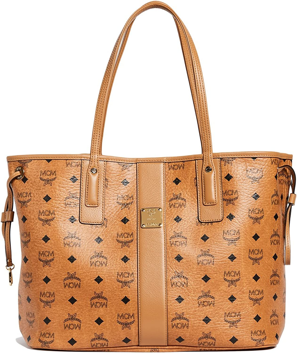 MCM Damen Reversible Shopper Project Medium Cognac