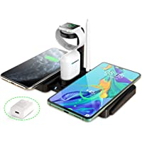 GEddie 4-In-1 Wireless Charging Dock Compatible With iWatch / Airpods & Apple Pen