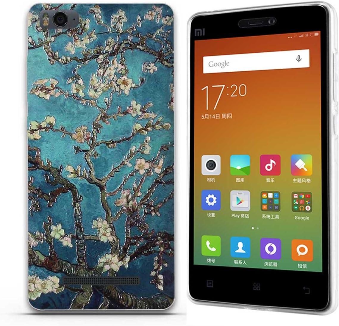 FUBAODA para Xiaomi mi4c(m4i m4c) clásico de la Flor Patrón,Fina ...