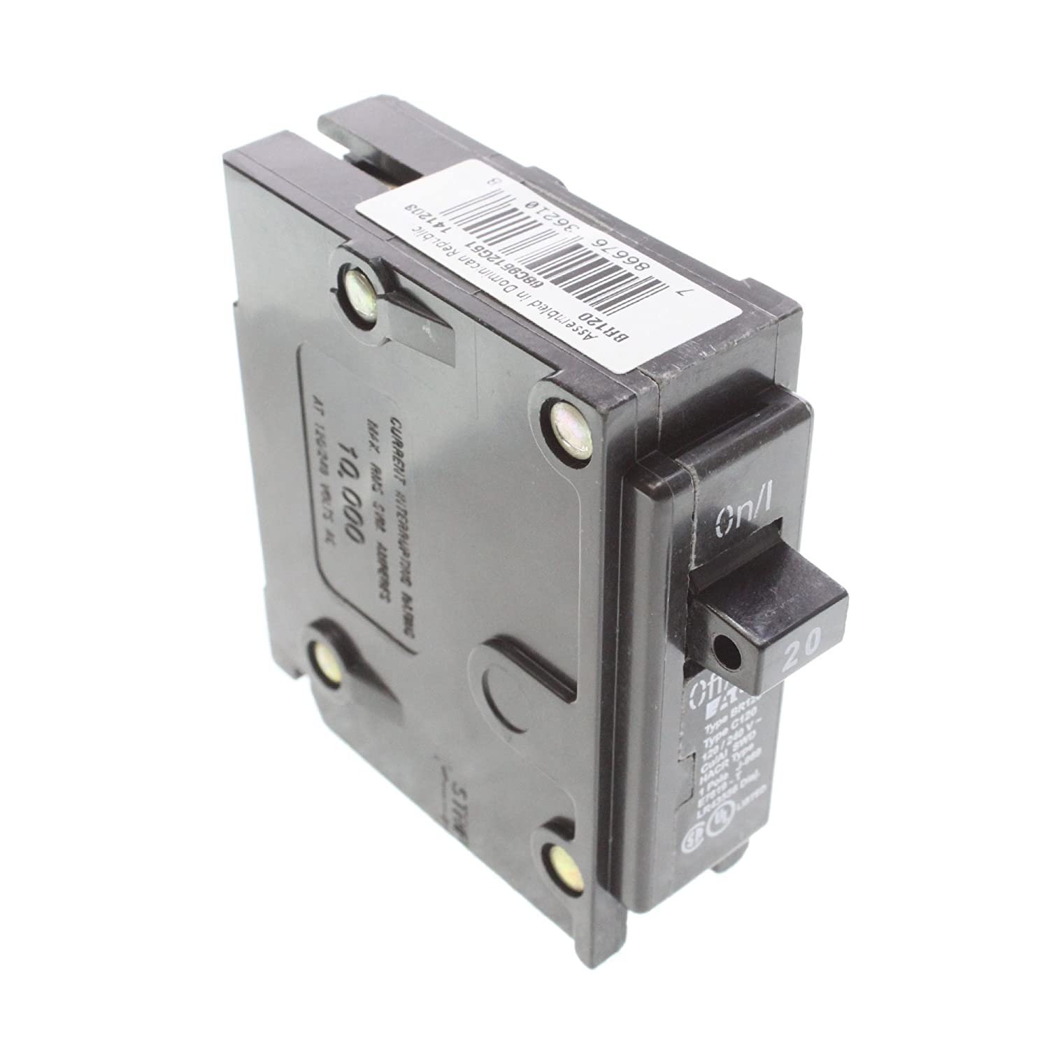 NEW LOT OF 2 CUTLER HAMMER CIRCUIT BREAKER BR120 20A 20 A AMP 1 POLE 120//240 VAC