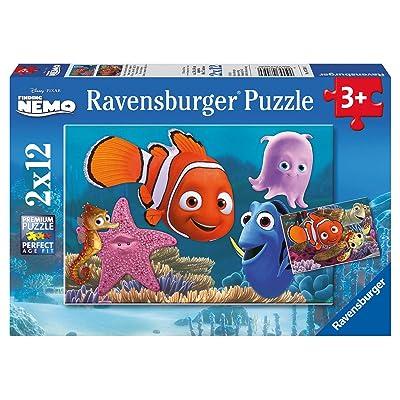 Ravensburger 07556 - Puzzle Enfant Classique -Le monde de Nemo - 2 x 12 Pièces