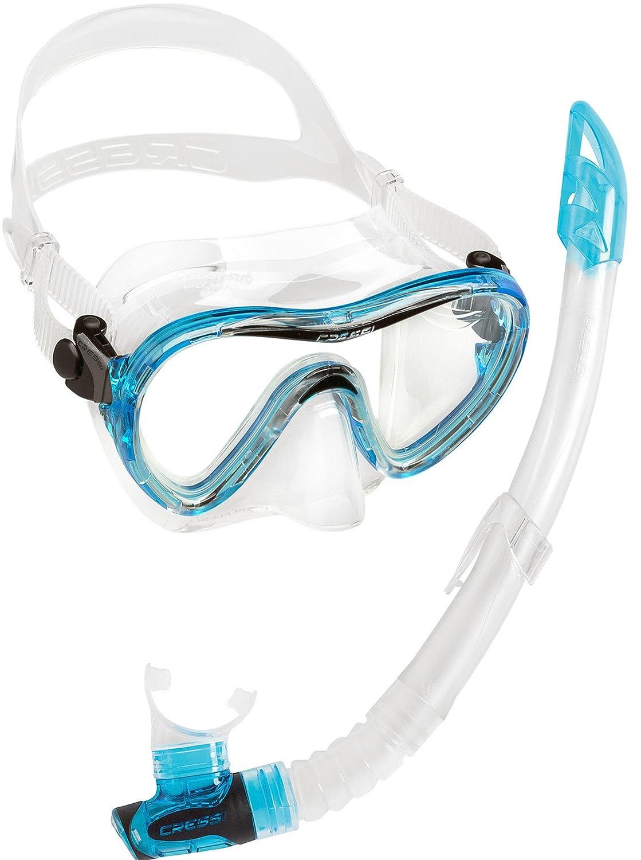 Cressi Sky & Gamma Premium Schnorchelset Schnorchelset Schnorchelset Erwachsene - Blau, Gelb, Aquamarin - Herren und Damen - Made in  B01BNOJWUK Schnorchel-Sets Geschwindigkeitsrückerstattung d9b986