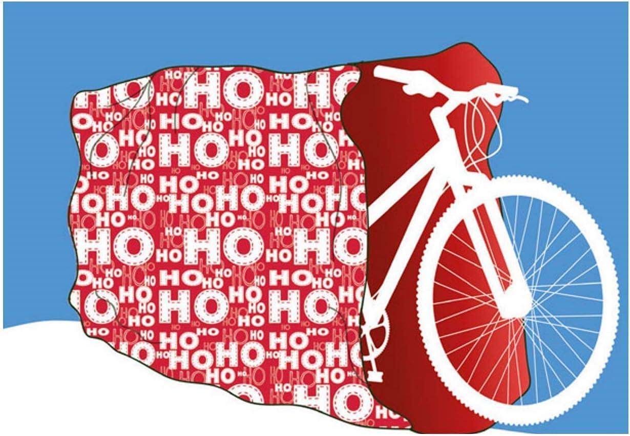 Bolsa grande de regalo para bicicleta de Navidad, diseño de Papá Noel, color azul