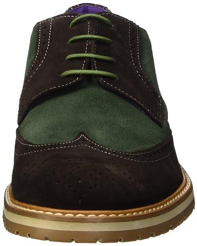 complementos hombre 45 Multicolor CUERO es Zapatos SOTOALTO Zapatos Blucher y MARRON de Amazon wSfxgRABqa