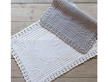 Blanc Mariclo Teppich Badezimmer Shabby Chic Crochet Frame ...