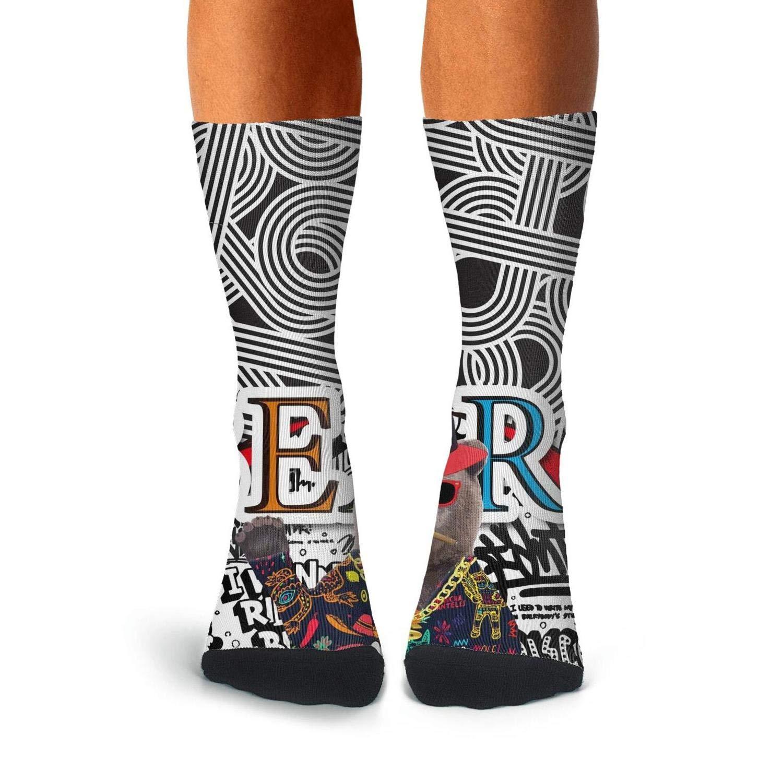 KCOSSH hip hop California republic bear Funny Crew Socks Casual Calf Sock for Mens