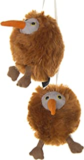 product image for 2 Pack of Brown kiwi Crib Mobile Attachments | Hanging Plush Animal Decorations for Baby Girl or Boy Playpen or Crib | Accessories for Use with Mobile Hanger Sold Separately