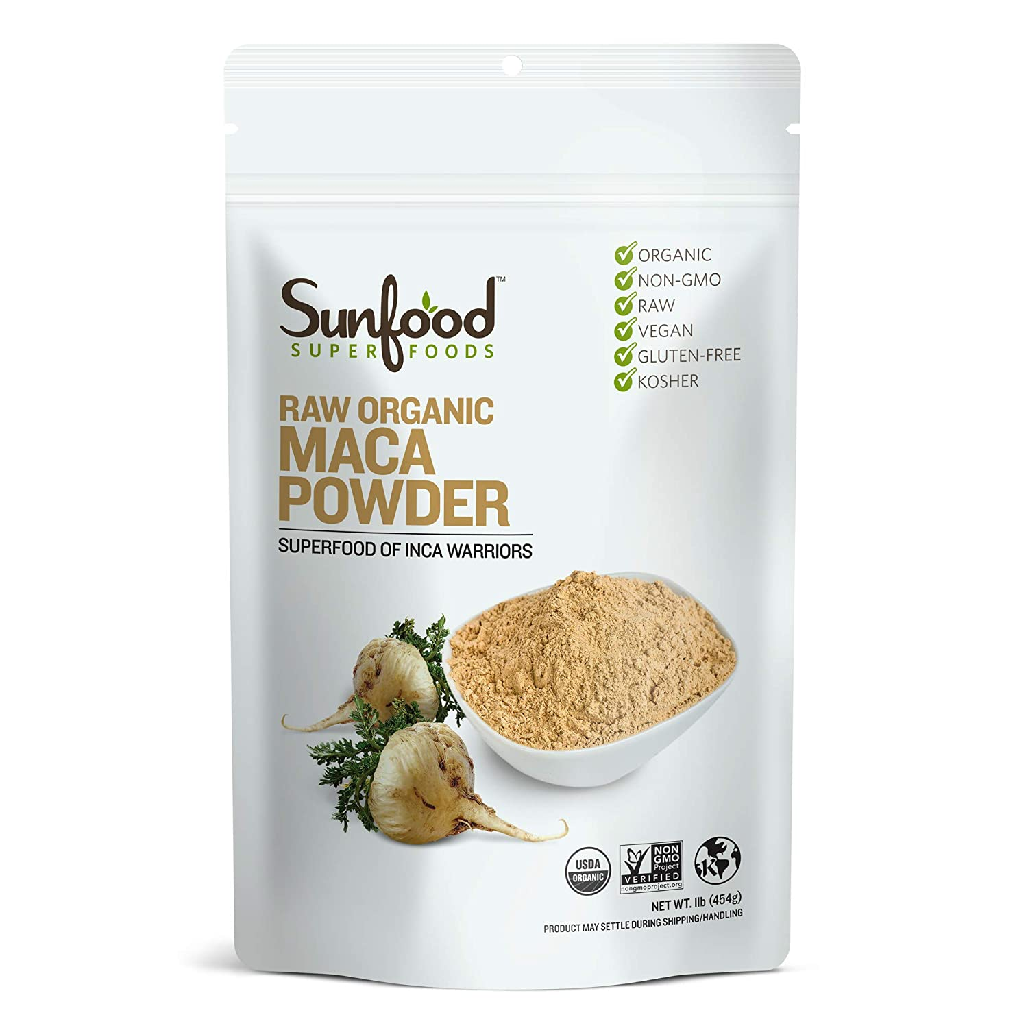 Sunfood Maca Powder, 1 Pound, Organic, Raw