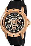 Invicta Men's 'Objet D Art' Automatic Stainless Steel and Silicone Casual Watch, Color:Black (Model: 22631)