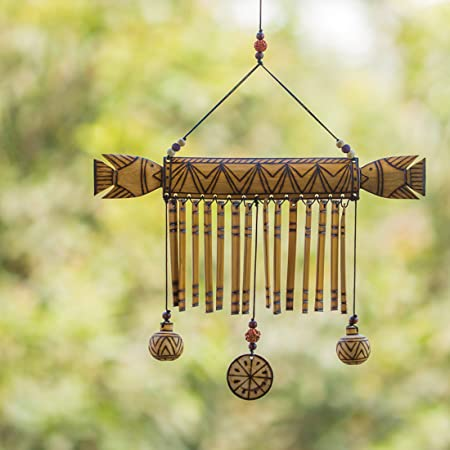 ExclusiveLane Hanging Wind Chimes Wall Hanging Wall Décor- Hanging Wind Chimes Wall Hanging Wall Décor