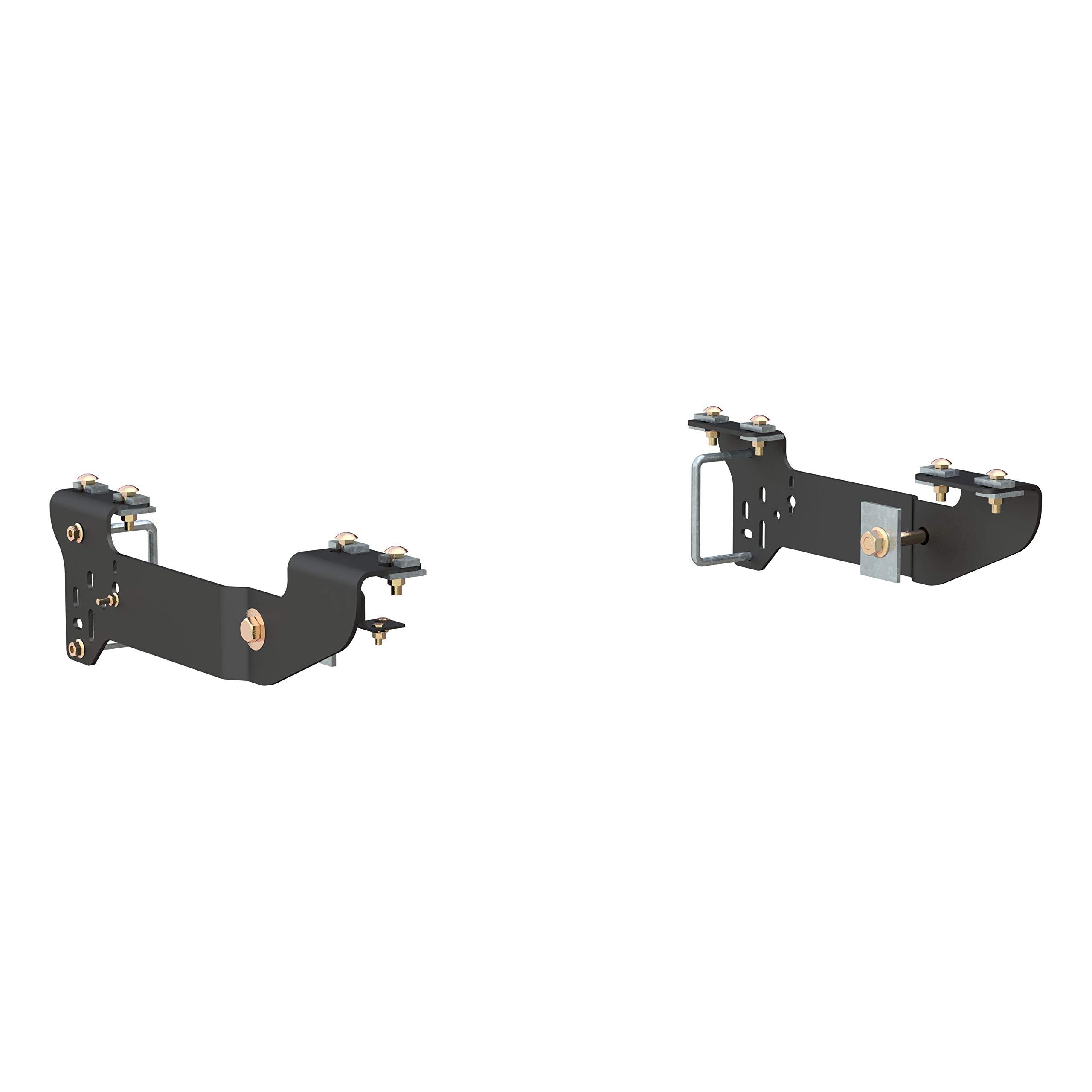 CURT 16400 Black 5th Wheel Hitch Installation Brackets for Select Chevrolet Silverado, GMC Sierra 1500, 2500LD, 2500HD, 3500 by CURT