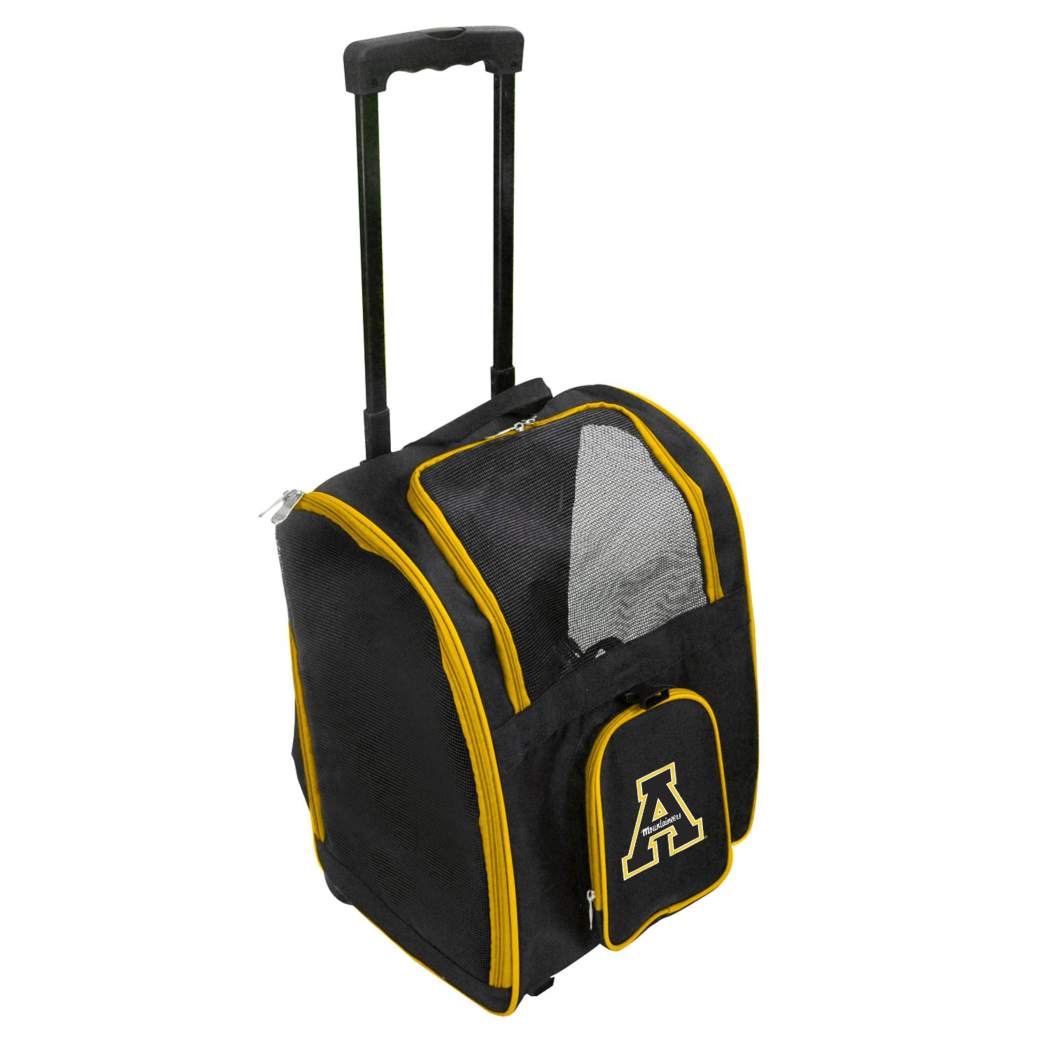 Denco NCAA Appalachian State Mountaineers Premium Wheeled Pet Carrier
