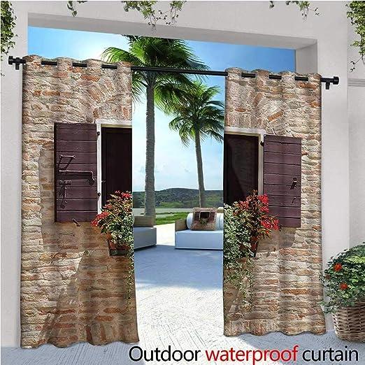 Cortina de privacidad de pie para Exteriores, Estilo Toscano, Ideal para Patio, Patio, cenador, Playa, casa, etc.: Amazon.es: Jardín