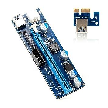 Hanyoug 6Pin USB3.0 PCI-E Express Tarjeta adaptadora de ...
