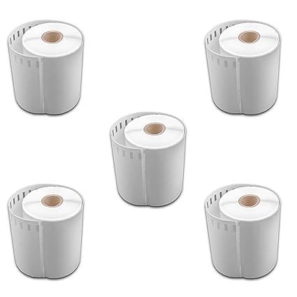 vhbw 5x set rollo de etiquetas adhesivas 104mmx 159mm para ...