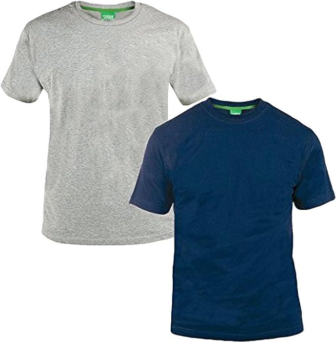 Mens T Shirt Tee Polo King Size 3xl 4xl 5xl 6xl Twin Pack crew neck