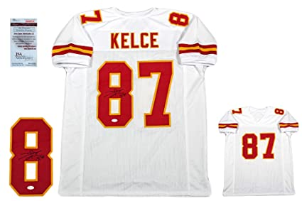 954b13ec2a9 Image Unavailable. Image not available for. Color: Travis Kelce Autographed  SIGNED Custom Jersey - JSA Witnessed Authentic ...