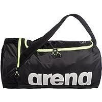 Arena Unisex Yüzme Çantası Antrenman Çantası Fast Duffle (Geniş, Su Geçirmez 55 x 30 x 30 cm), Sarı Siyah (53), Tek Beden