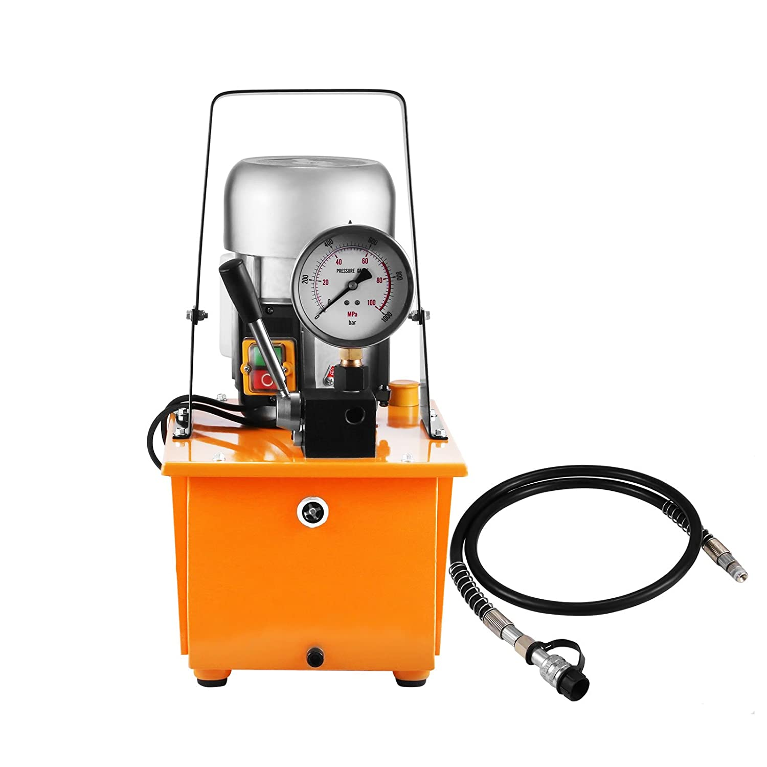 Double Acting Hydraulic Pump Happybuy Hydraulic Pump Electric Double Acting Manual Valve Hydraulic Pump 10000 PSI 0.75KW Driven Hydraulic Pump for Home and Commercial Using