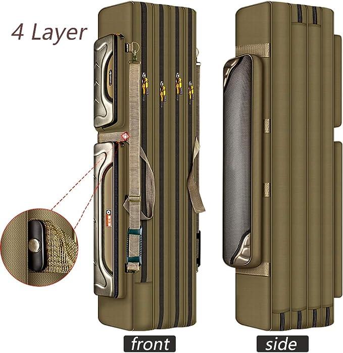 Rutentasche Rod Case Angelkoffer mit 3 F/ächern Verschiedene L/ängen w/ählbar