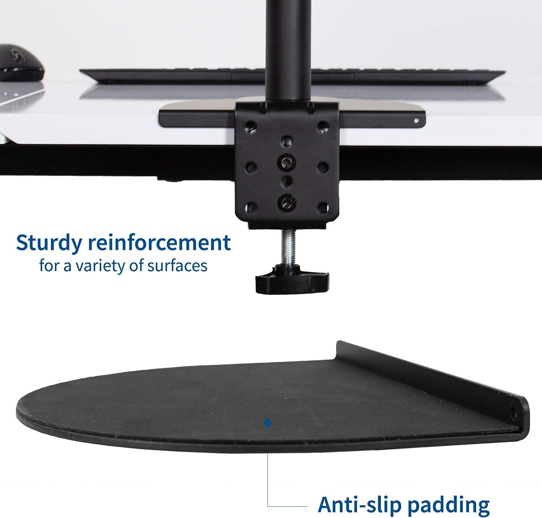 VIVO Support de fixation en acier noir pour tablette fine, en verre et autres tablettes fragiles - Pince compatible avec la plupart des installations de support de moniteur (STAND-AC01R)