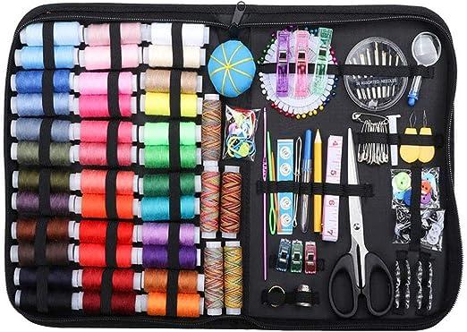 kangOnline 200pcs Suministros de Costura portátil Set Kit de Hilo de Aguja Estuche de Costura Resistente a los arañazos para Adultos reparación del hogar Bricolaje: Amazon.es: Hogar