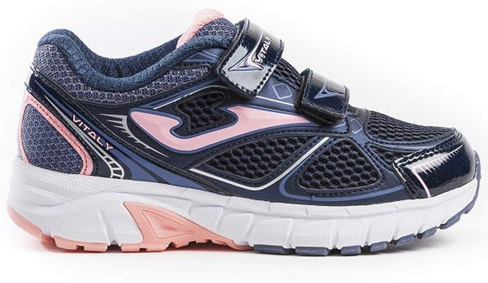 Joma Zapatillas de Tenis J_VITAS 923V Azul Marino-Rosa con Velcro, a la Moda - J_VITAS_923V_29, 29, Navy-Rosa con Velcro: Amazon.es: Zapatos y complementos