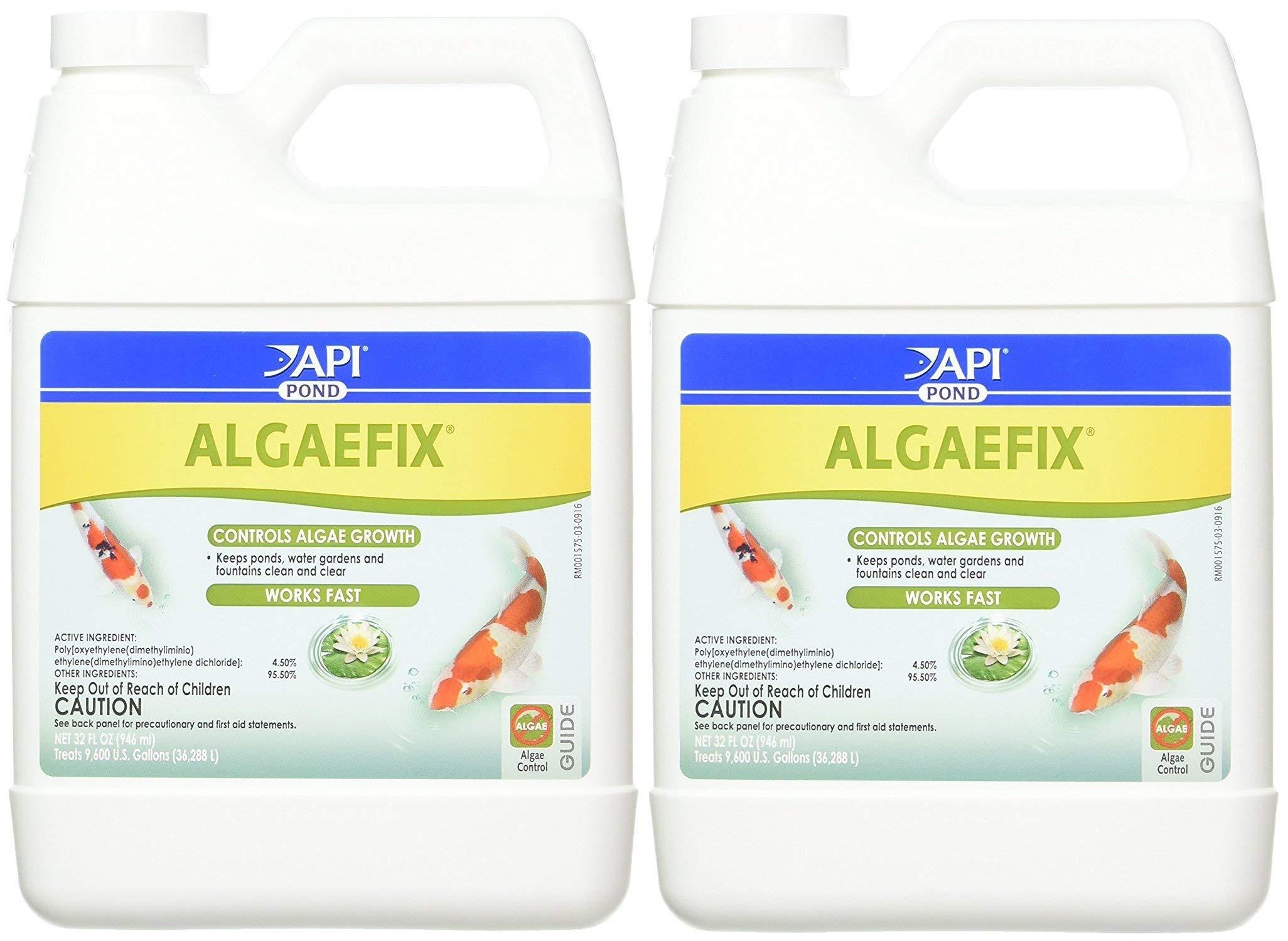 API (2 Pack Pondcare Algaefix Alage Control, 32-Ounce by API