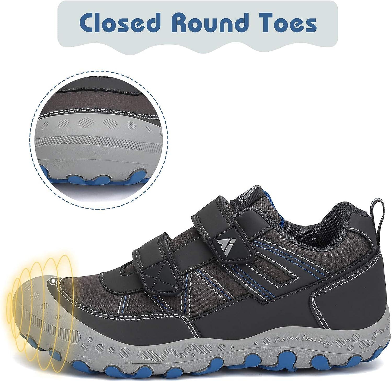 Mishansha Outdoor Kids Hiking Shoes Sneakers Durable Wide Boys Walking Tennis Trail Shoe Grey Little Kid 1