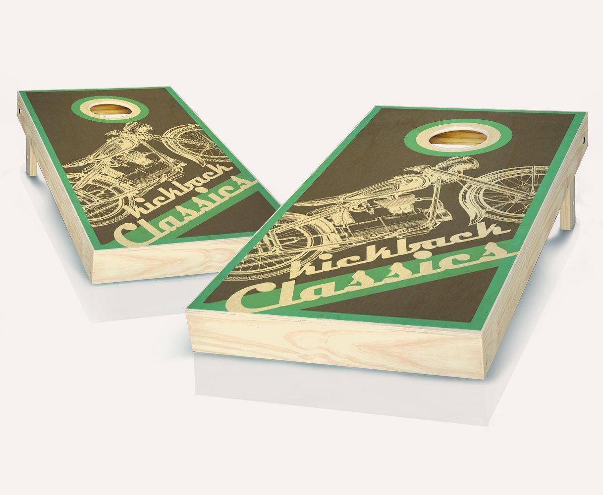 Tailgating Pros Kickback Classics Stained Kickback Cornhole Boards withのセット8 Tailgating Cornhole Boards Bags B07C8MX793, ナジェール:836ed927 --- webshop.mrf.se