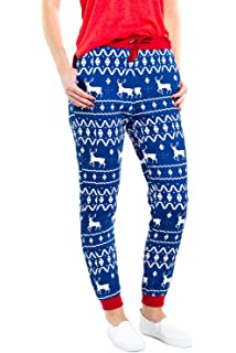 60eabb637 Tipsy Elves Women's Cute Christmas Joggers - Female Festive Holiday Xmas  Pajama Pants