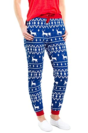 89cd769f1 Amazon.com: Tipsy Elves Women's Cute Christmas Joggers - Female Festive  Holiday Xmas Pajama Pants: Clothing
