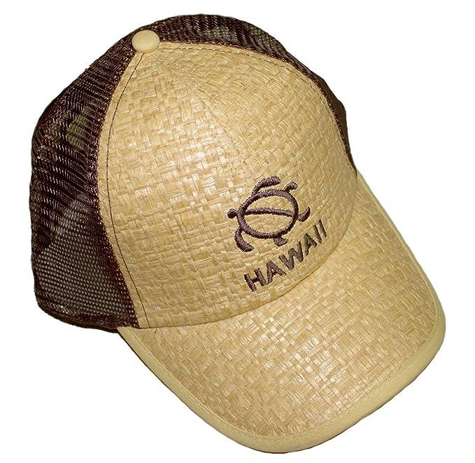 57502b18d2e8b9 Amazon.com: Rainbow Hawaiian Theme Hats Embroidered Hono Sea Turtle Hawaii  Cap Hat, Straw Weave Front, Mesh Back (Yellow): Clothing