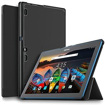 timeless design d01c3 68e3c IVSO Lenovo Tab10 Case Slim Smart Cover Case for Lenovo Tab10 10.1 inch  Tablet (Black)