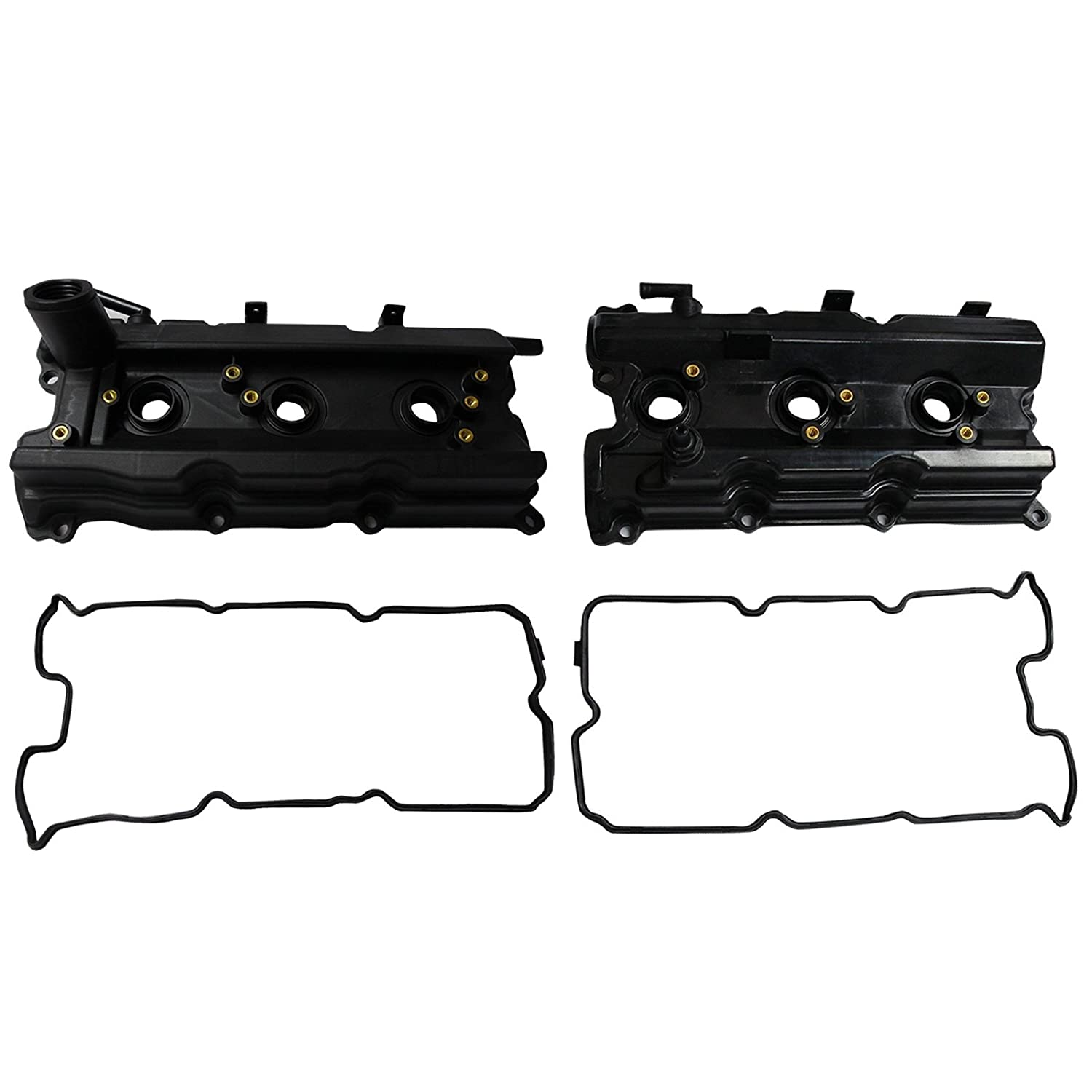 Left & Right Engine Valve Covers Fit For 03-06 Nissan 350Z Infiniti M35 FX35 G35 3.5L V6 yjracing
