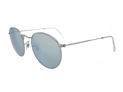 a109bbf55d2 Image Unavailable. Image not available for. Color  Ray Ban Round Metal RB3447  019 30 Silver Silver Flash 50mm Sunglasses