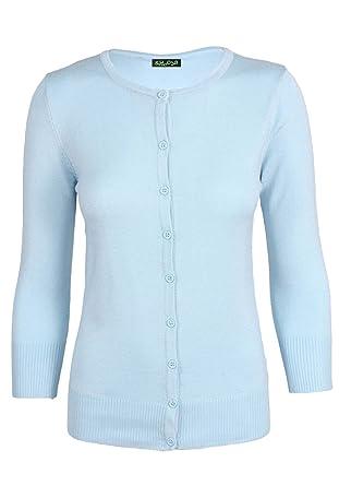 Sidecca Knit 3 4 Sleeve Crew Neck Button Down Cardigan Regular and Plus  Size - 341b99b78