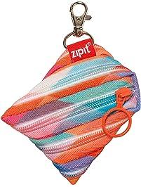 "ZIPIT Colors Mini Pouch Coin Purse, Triangles, 3.74"" x 0.6"" x 3.14"" (ZPT-CZ-TRI)"