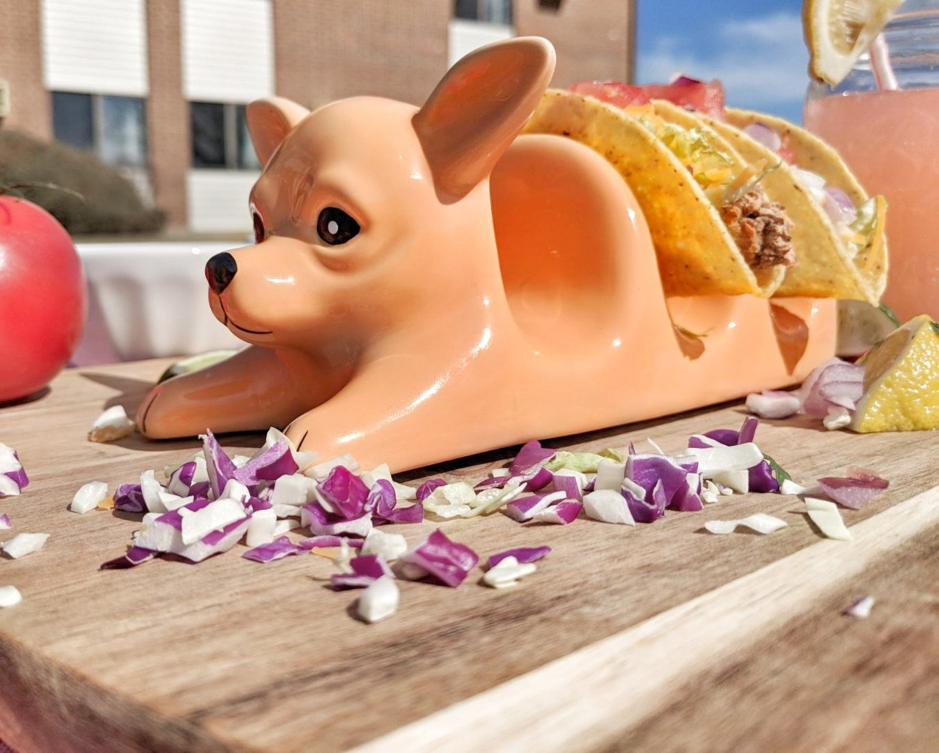 Chihuahua Taco Holder Funny, Novelty Ceramic Taco Tuesday Food Tray   Holds 3 Tacos   Soft & Hard Flour Corn Tortillas   Dishwasher Safe   Excellent Gift for Kids and Adults   HMH Elite by HMH Elite (Image #3)