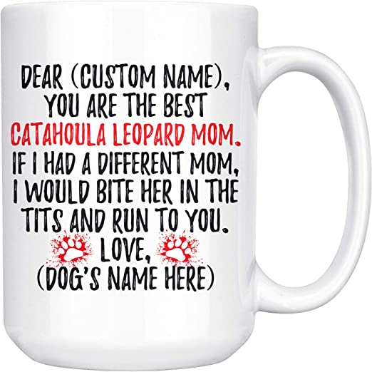 Personalized Catahoula Leopard Dog Mom Mug Catahoula Women Gifts