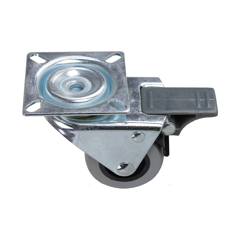 Roulette pivotante double gallets avec frein WTE