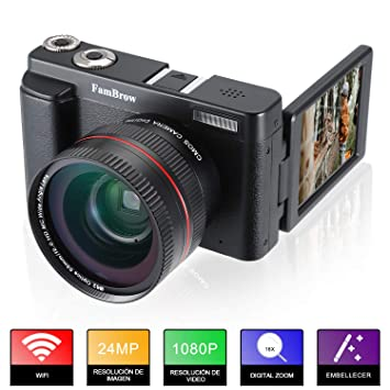 Camara Fotos Full HD 1080P,FamBrow Camara de Video WiFi 24MP ...
