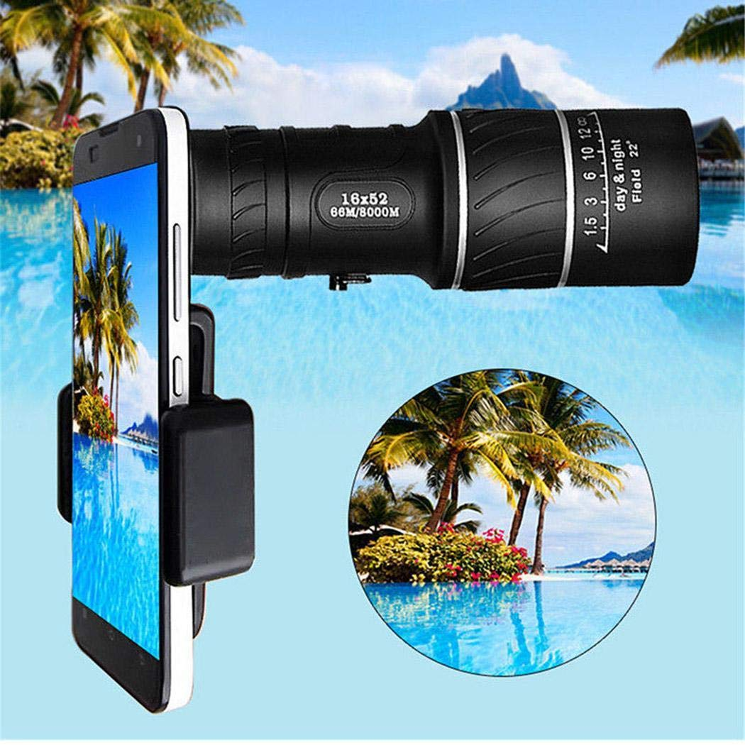 UpBeauty 16x52 High Definition High Power Telescope Monocular Telescope Electrolyte Solutions
